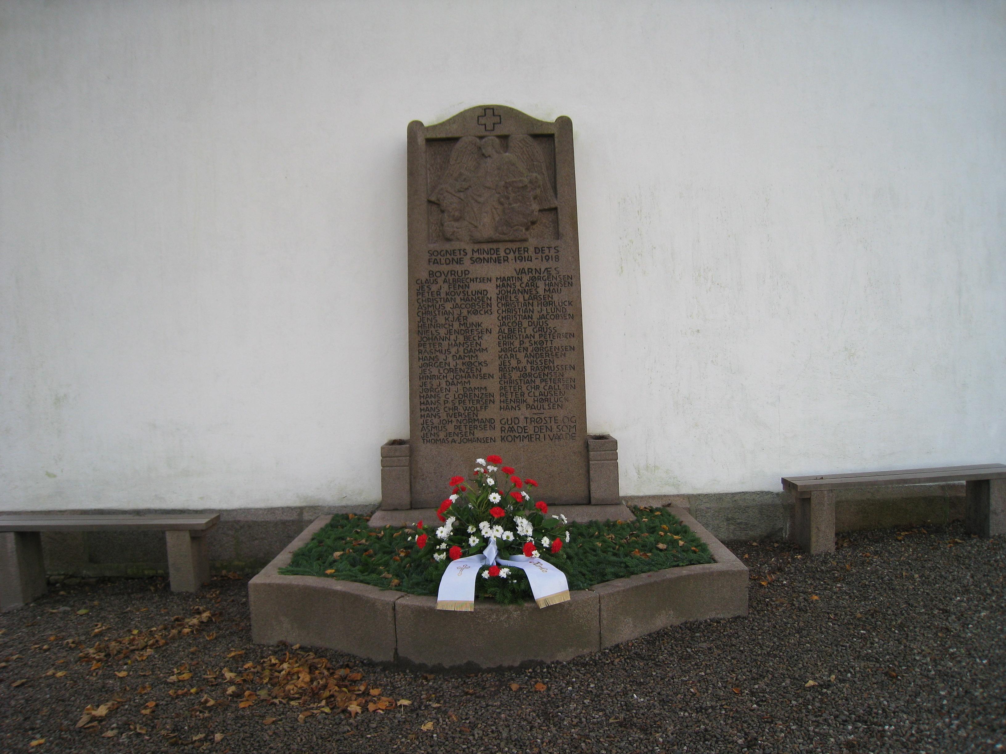 Mindesten over faldne i sognet 1914 - 1918